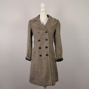 ZARA Basic Wool Tweed Pea Coat